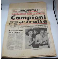 Cagliari Campione d'Italia l'informatore del lunedì edizione 2000