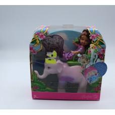 Barbie the Island Princess Shelly with elephant Mattel