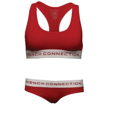 French Connection Womens Stripe Cami And Plain Briefs Set