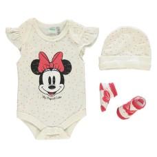 Disney Baby Minnie Mouse suit body 3 piece set new 0 6 month
