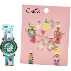 Calvi set  Unicorn watch and necklace