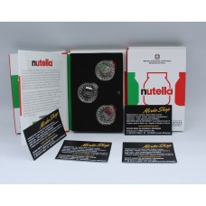 5 euro silver  2021 triptych Nutella