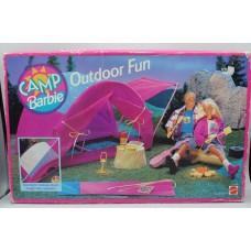 Barbie Camp  Outdoor Fun Tent Campsite Fire New NIB SEALED Mattel
