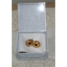Sardinian filigree earrings with granata  silver 925