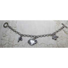 Bracelet Giovanni Raspini with 3 charmes  silver 925 used