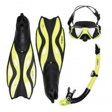 Snorkeling set Gul  temperated glass and fin set Medium