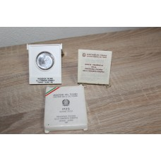 Silver coin 500 lire 1985  commemorative Italian presidency to the European Community