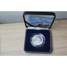 Silver coin 10000  lire 1994  commemorative celebrating  worldwide soccer championship USA